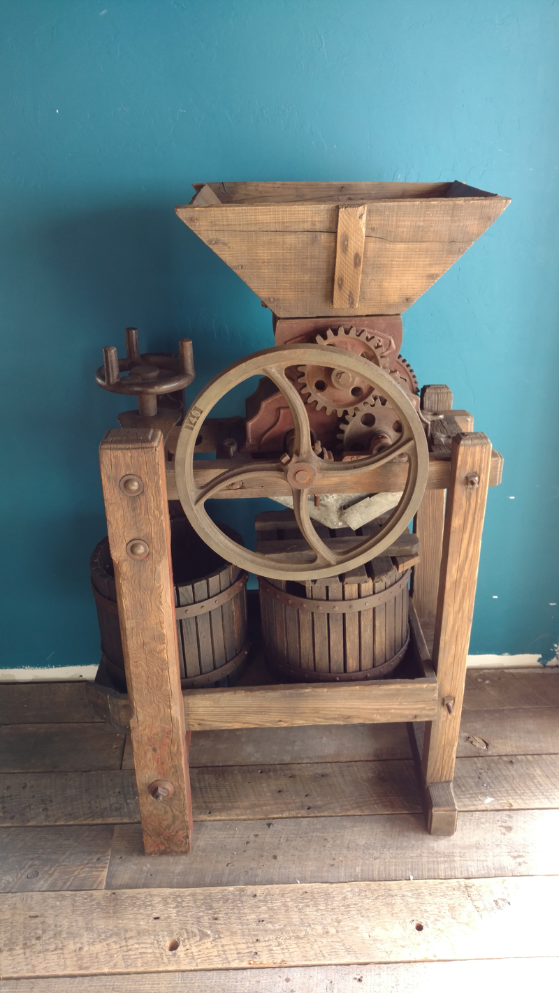 Fruit Chopper Cider Press Mill Ca 1872 Sold Chris And